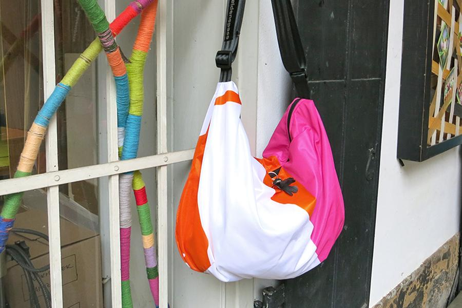 Banana bag orange-pink-white
